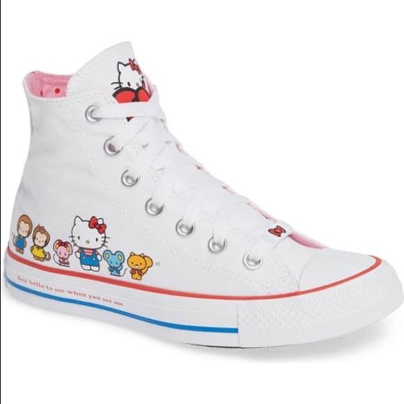 Converse Shoes   X Hello Kitty High Top   Poshmark 11eced2d38